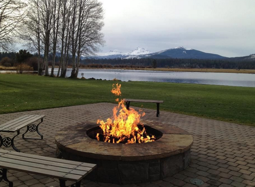 5 bedroom, three bath, private fire pit -sleeps 8-10 ... |Dude Ranch Fire Pit