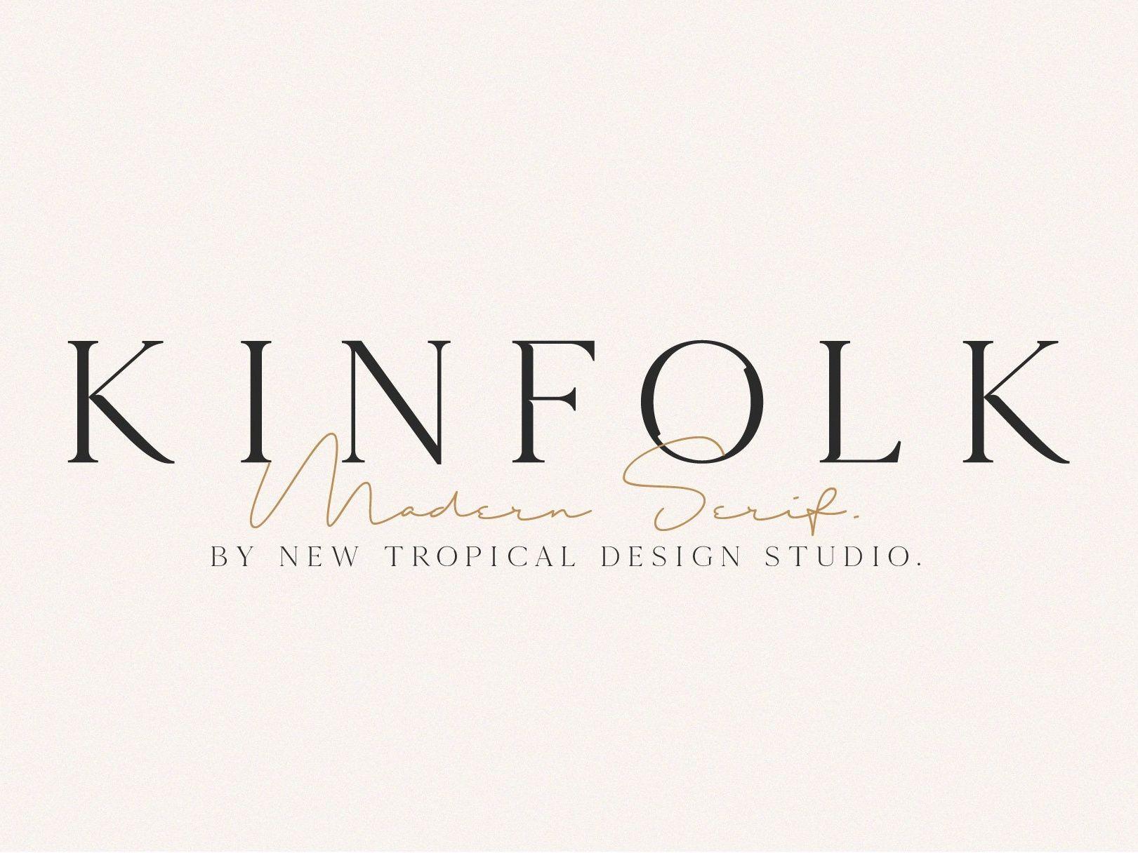 KINFOLK Modern Serif Font Modern serif fonts, Serif
