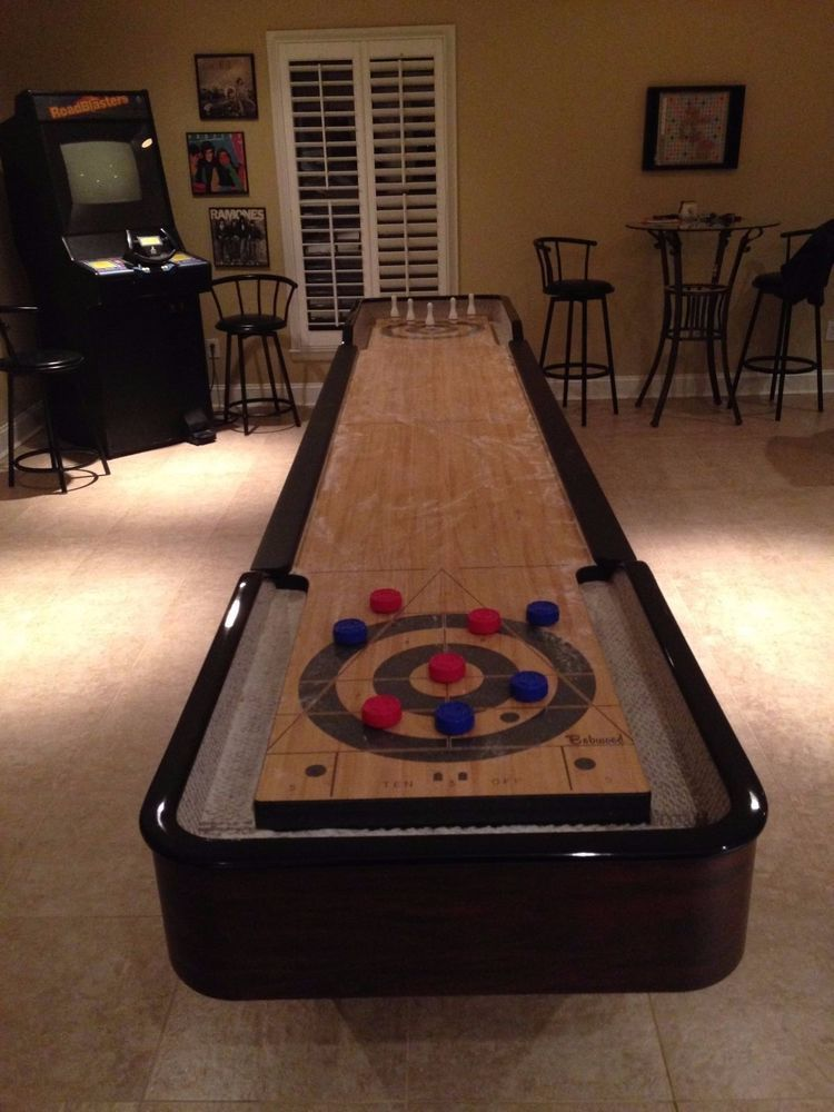 Bobwood Shuffleboard Table 14 Foot In Sporting Goods, Indoor Games,  Shuffleboard | EBay