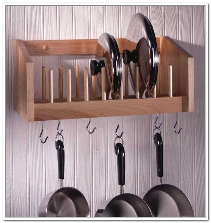 Pot Lid Storage Rack & Pot Lid Storage Rack | Ideas for the House | Pinterest | Pot lid ...