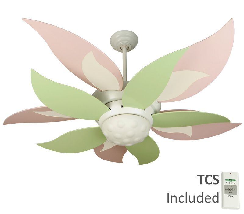 Craftmade bl52w bloom white 52 ceiling fan with light remote craftmade bl52w bloom white 52 ceiling fan with light remote control bbl52 grn blades 370 aloadofball Image collections