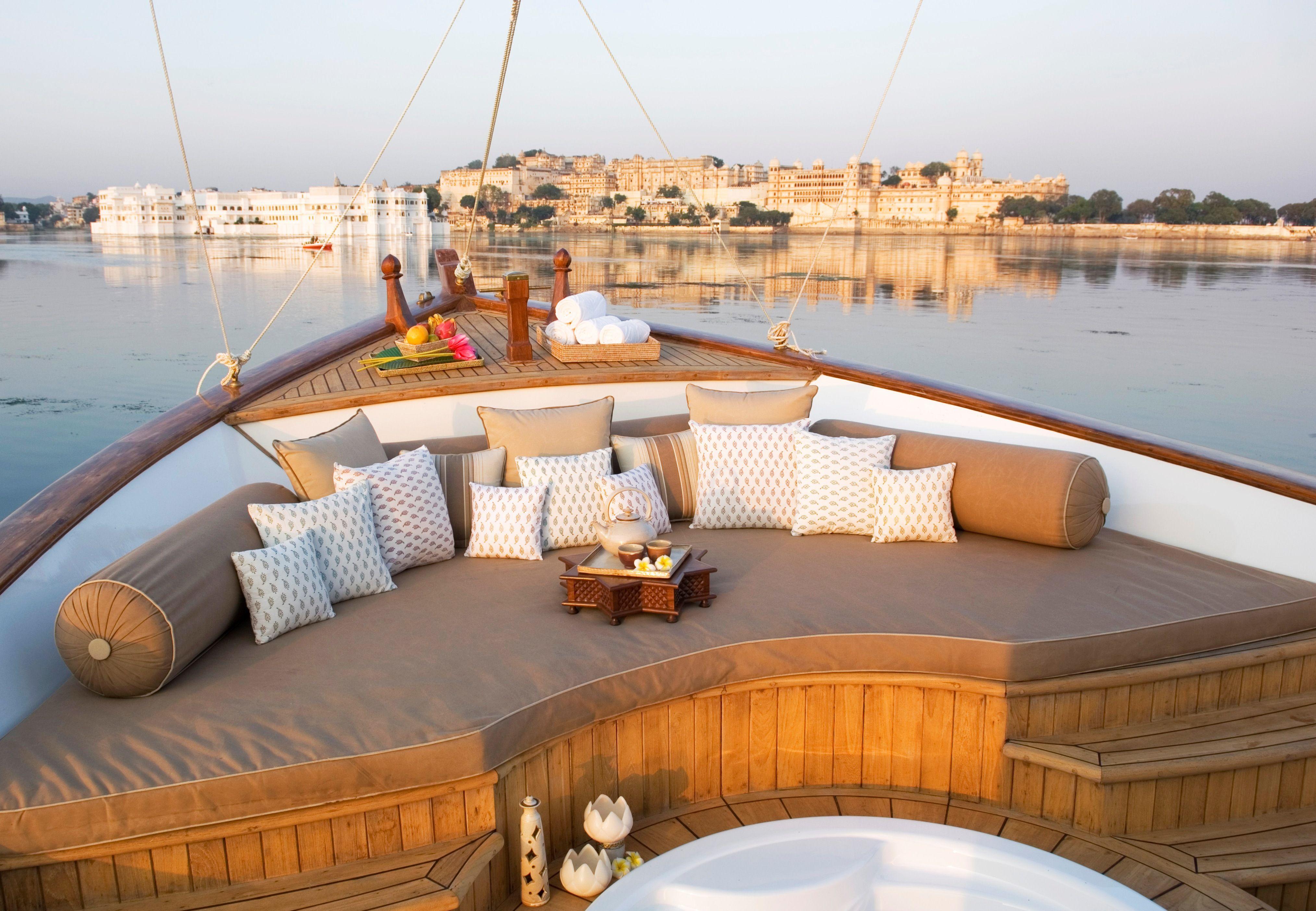 Spa Boat, Taj Lake Palace, Udaipur, North India Perfect