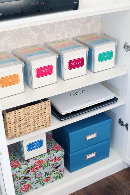 Love This Idea For Organizing Dvds By Rating And Then Alpha Le With In The Box Heart Labeling 101 Print Cut Stickers