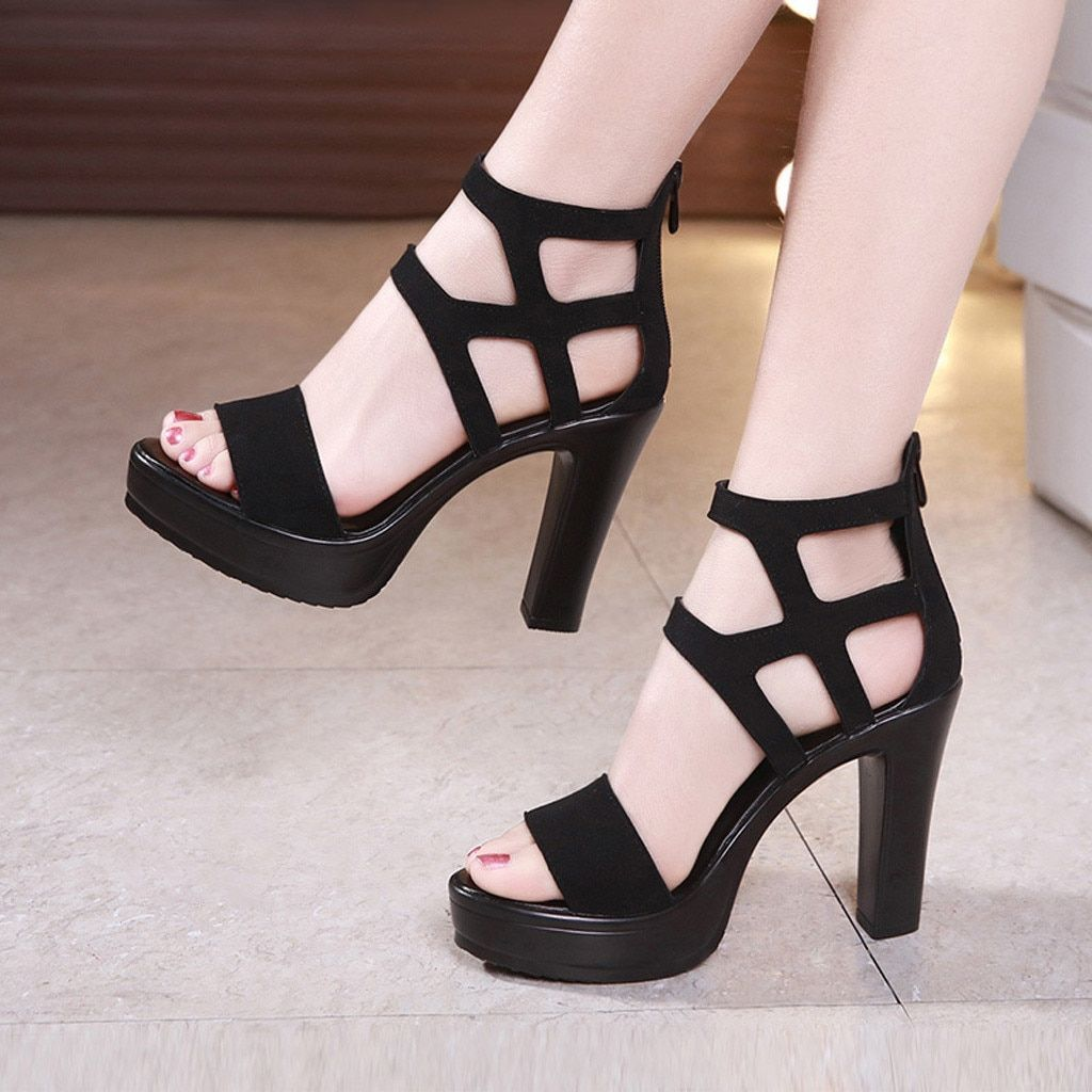 Women/'s Breathable Mesh Lace Up Pump High Heels Open Toe Stiletto Sandals Party