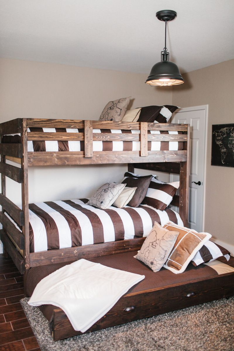 Best Decorating Shared Kids Rooms Bunk Bed Designs Home Bed 400 x 300