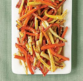 Roasted Carrots & Parsnips with Shallot & Herb Butter - my go to holiday vegetable