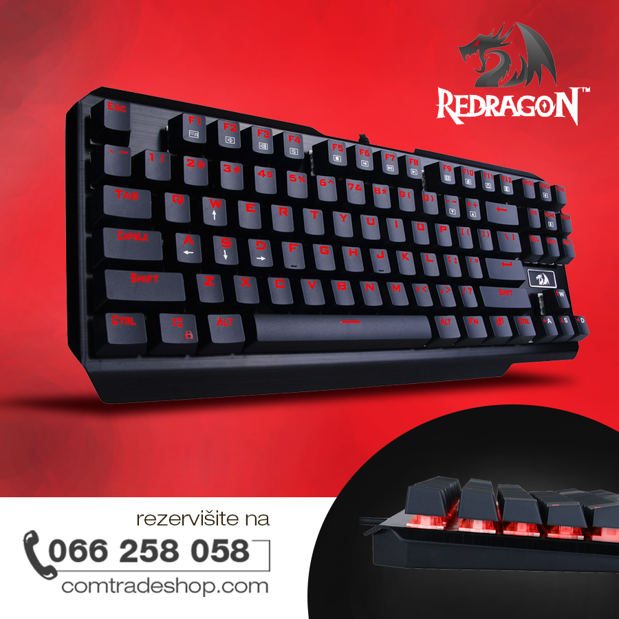 Redragon Usas K553 Mehanicka Tastatura Gaming Us Gaming Tastatura Computer Keyboard Sony Electronic Products