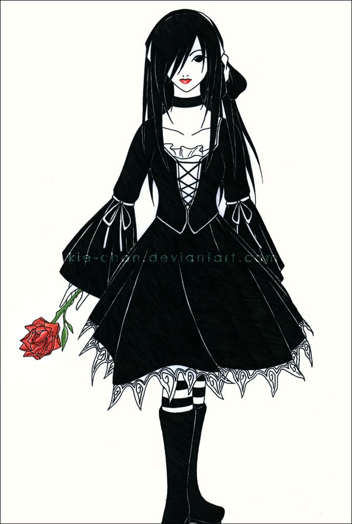 the wallflower anime goth girl group image for the
