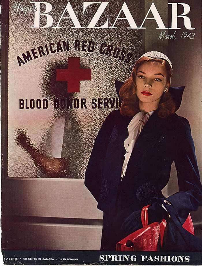 Lauren Bacall - Bazaar, March 1943