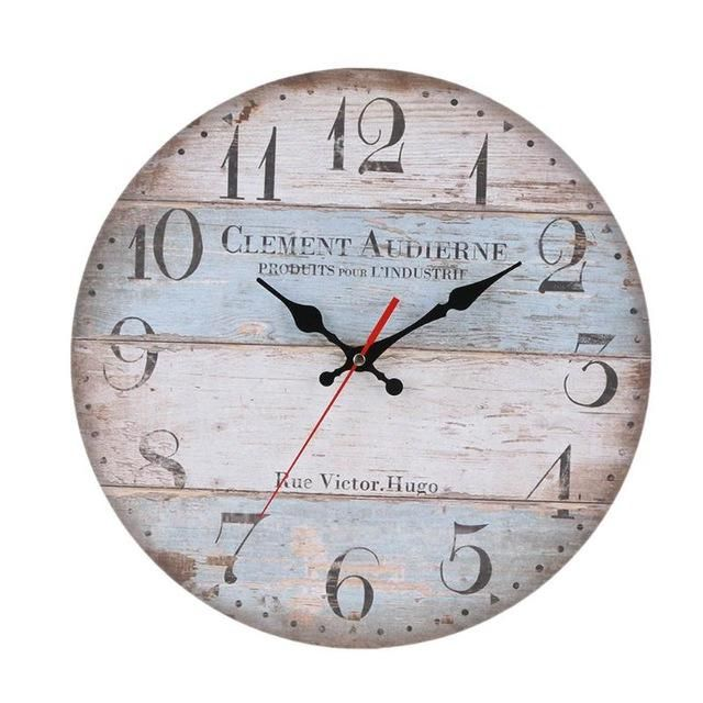 This Beautiful Vintage Look   Shabby Chic Antique Style Wooden Wall Clock  Adds Charm To Any Room In Your Home. The Clock Is Made Bamboo U0026 Wood And  Comes In ...