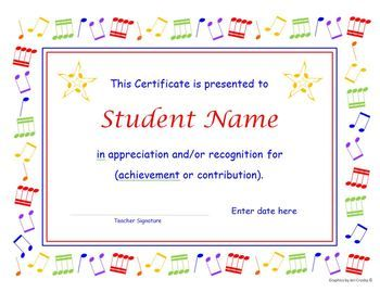 Music Certificate And Concert Program Templates With ReUseable