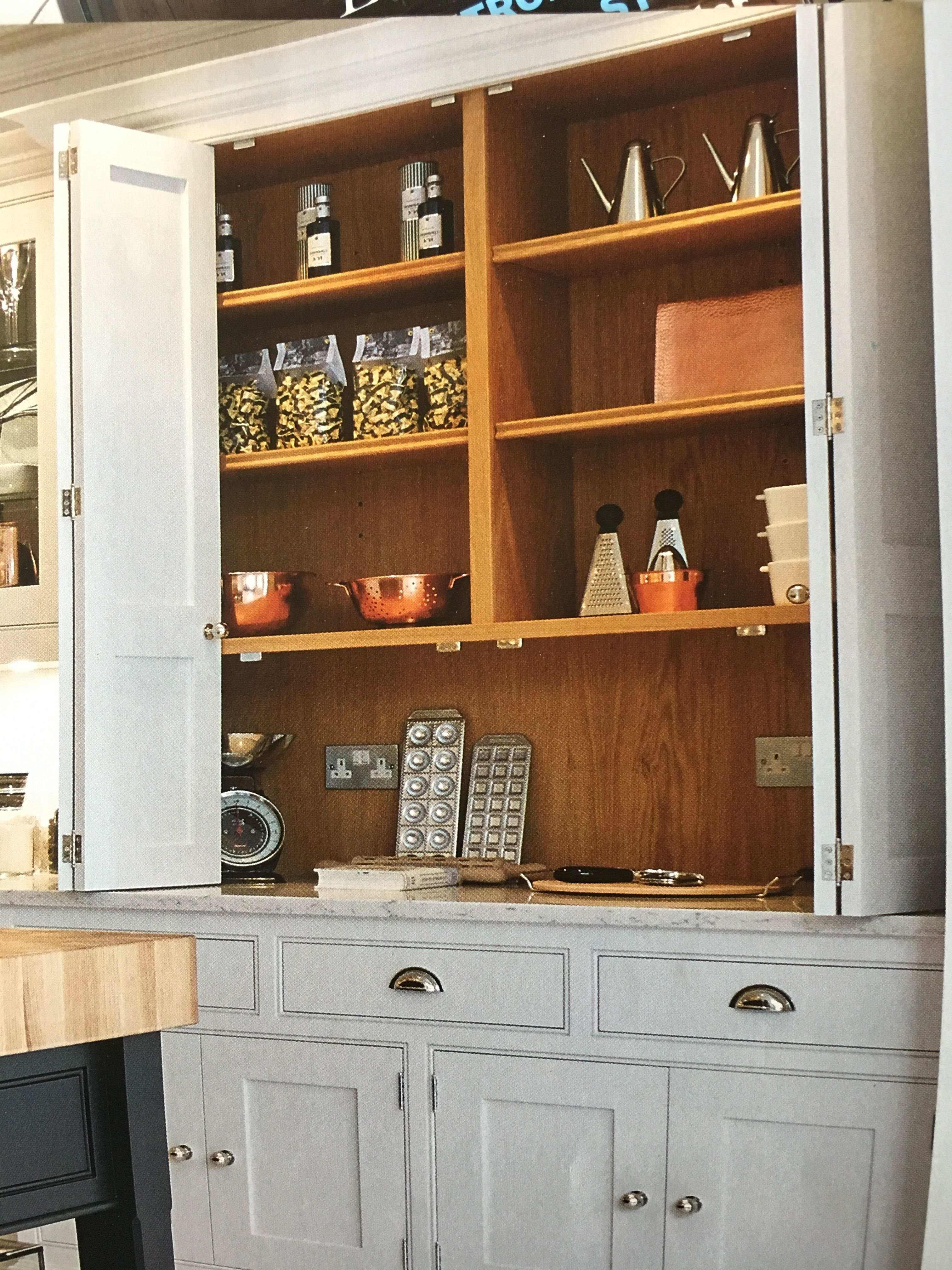 Kitchen Cupboard Doors That Concertina Back Effectively Provides More Of A Pantry E Perfect