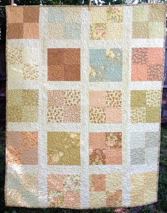 Romantic floral lap quilt free pattern: easy pattern for beginners ... : charm quilt patterns easy - Adamdwight.com