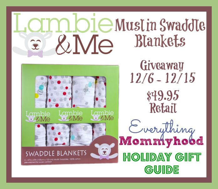 Lambie Amp Me Muslin Swaddle Blankets Review Amp Giveaway