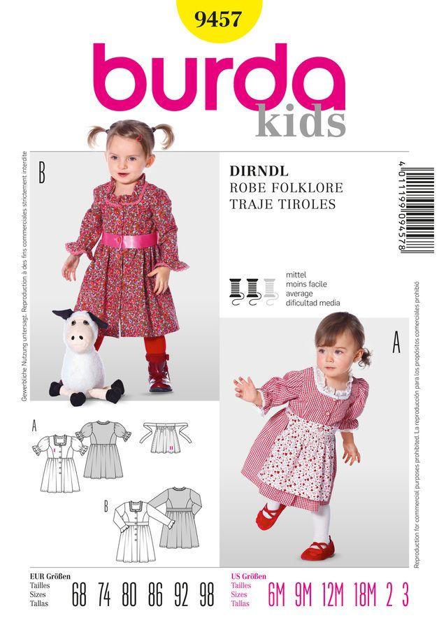 Schnittmuster für Dirndl 9457 | Burda | Pinterest | Dirndl and Etsy