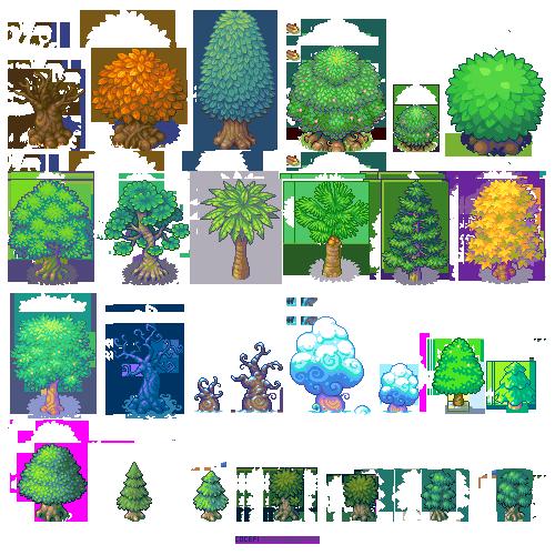 Trees trees trees! (With images)   Pixel art design, Pixel art ...