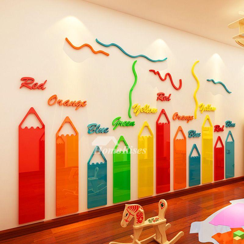 Vinyl Wall Decals Pencil Self Adhesive Home Decor Personalised Best Preschool Decor Daycare Decor School Wall Art