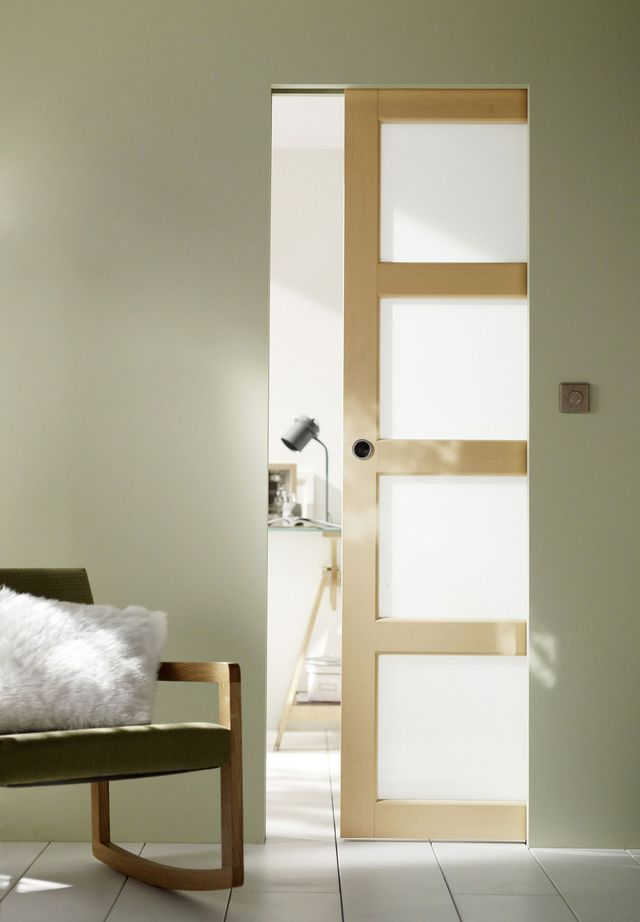 Porte à galandage  des portes coulissantes belles et pratiques - porte coulissante sur mesure prix