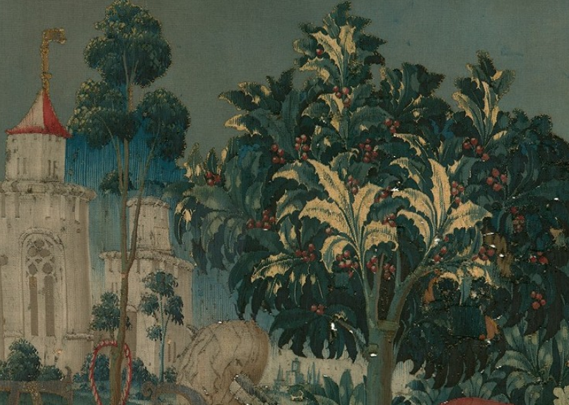 Details of foliage in the Unicorn Tapestries