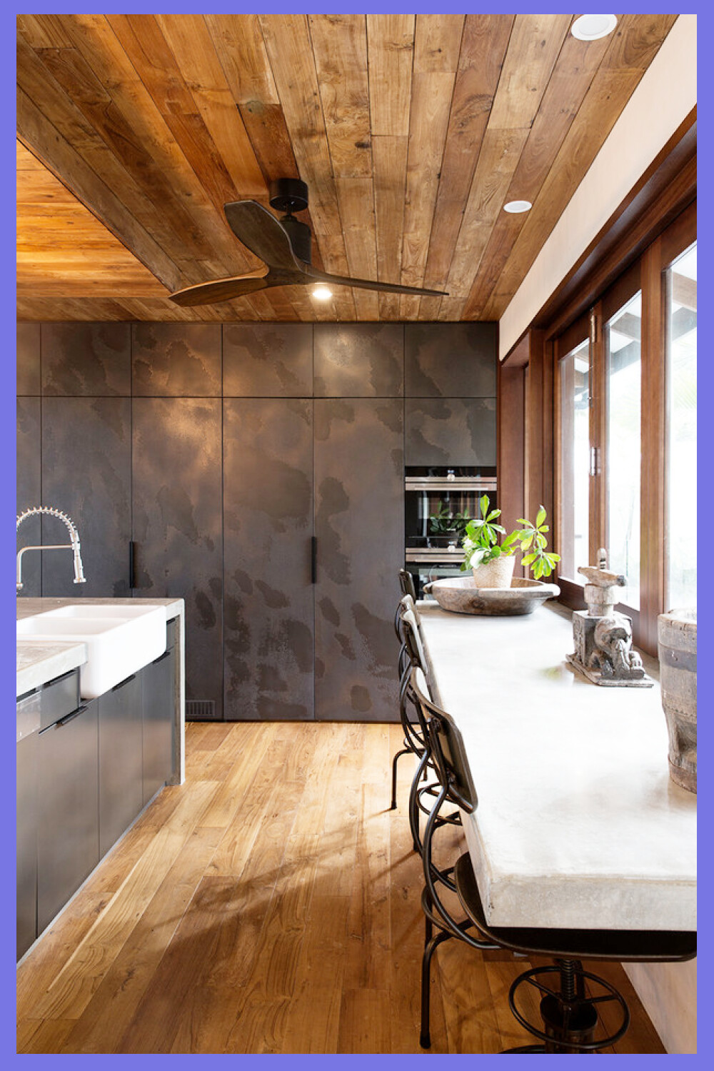 Tropical Kitchen Designs Inspiration For A Tropical Medium Tone Wood Floor And Brown Floo In 2020 Kitchen Inspiration Design Tropical Kitchen Design Tropical Kitchen