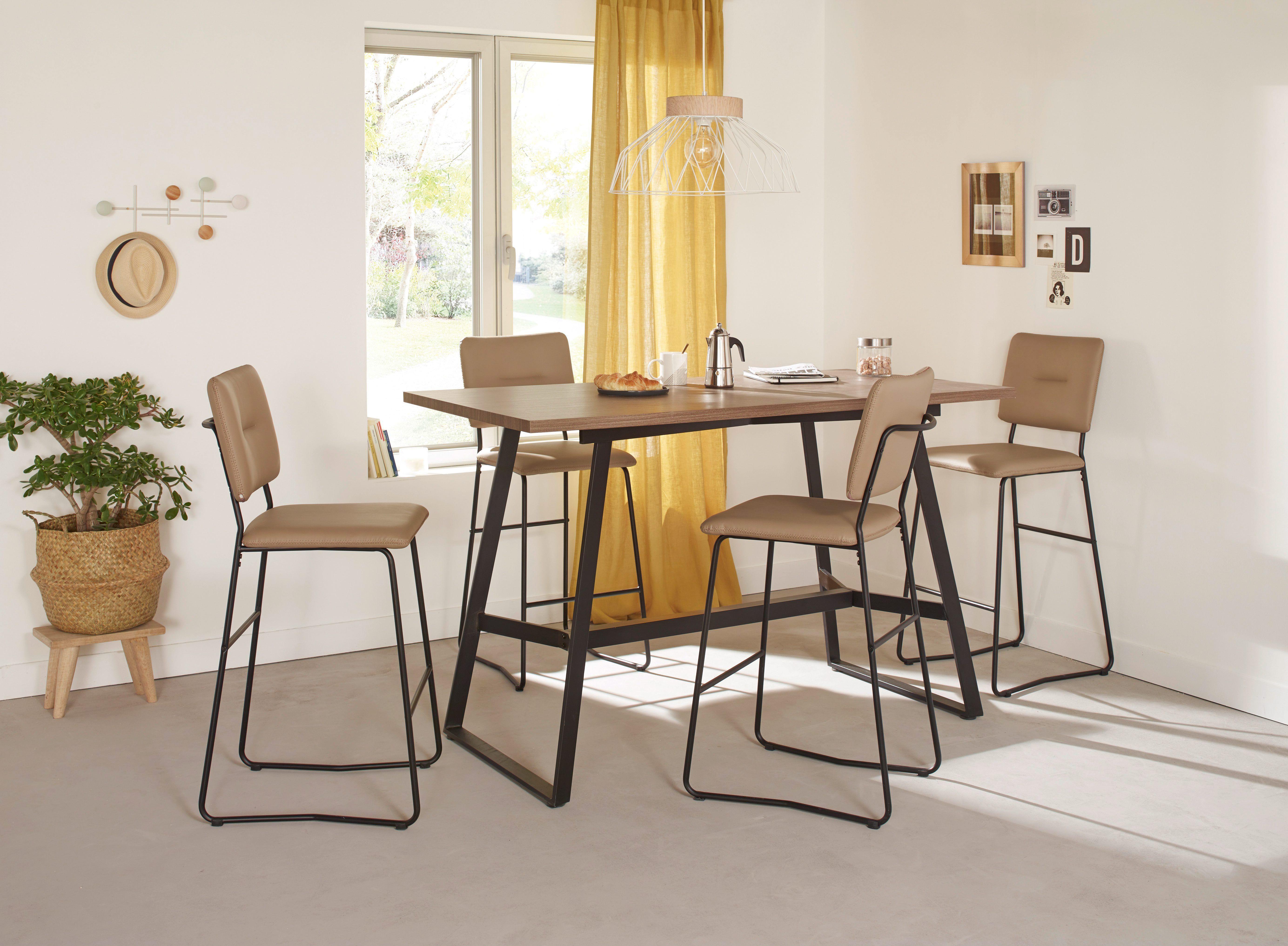Table Haute Pas Cher Mobilier De Cuisine Salle A Manger Tabouret De Bar