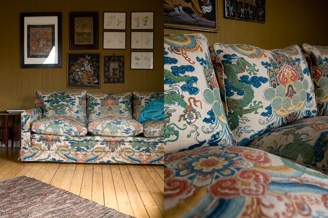 interior - elisabeth dunker photography  Wow! Love this fabric, this was my parents old sofa!