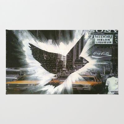 ThePeaceBombs - CityLanding 2 Area & Throw Rug by ThePeaceBombers - $28.00Using 100% woven polyester, these premium quality area rugs boast an exceptionally soft touch and high durability. Available in three versatile sizes (2' x 3', 3' x 5', 4' x 6') they are the perfect accent to any room in your home, featuring thousands of designs from your favorite artists on a subtle chevron pattern. Machine washable; non-skid pad not included. #art #home #decor #rug #shop #thepeacebomb #newyork