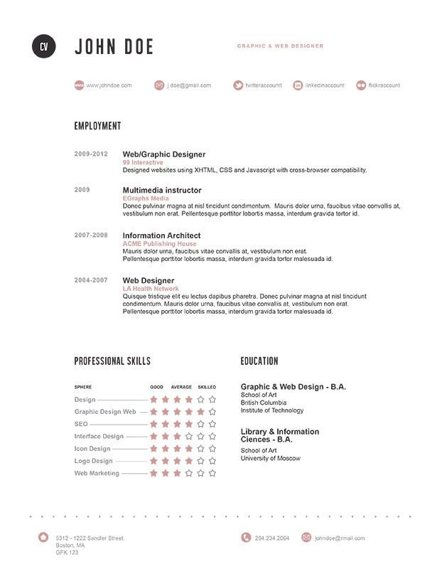 Resume Designer Another Clean And Simplefrom Bespoke Resumesthey Design It For