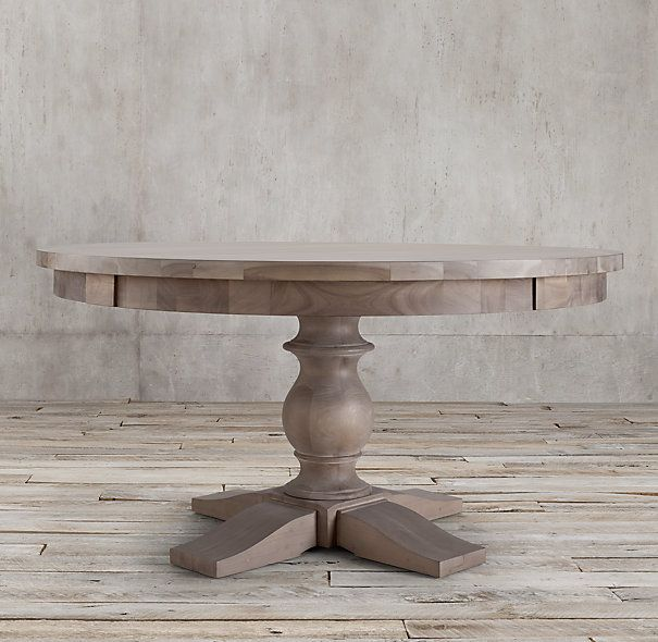 Reproduction 17th C. Monastery Round Dining Table From Restoration Hardware