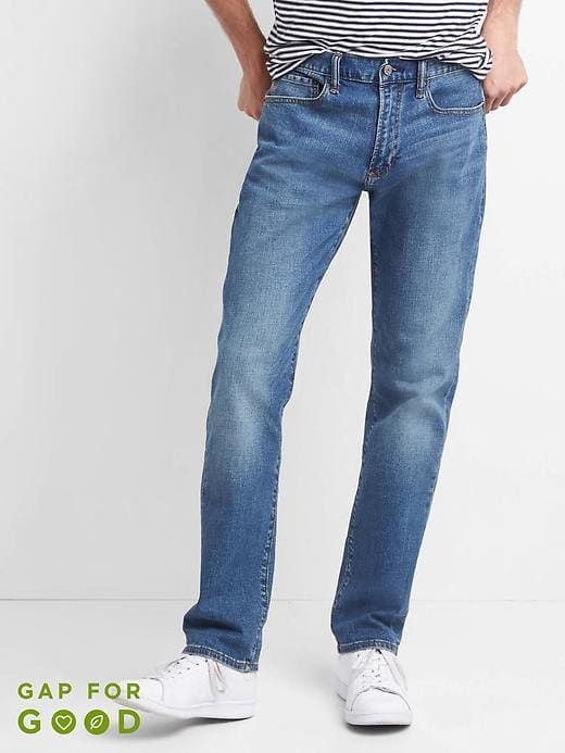 Gap Slim Fit Stretch Jeans Comfort At A Good Price And The Light Wash Is An Essential For The Closet Pu Mens Jeans Slim Mens Jeans Guide Mens Fashion Jeans