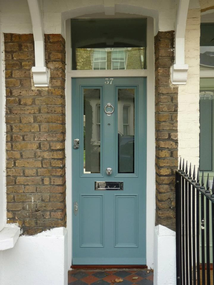 The London Door Company \'Grey Blue\' paint colour - Satin | Front ...