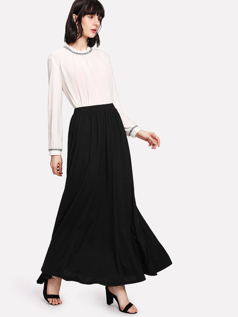 4bf9755eb Full Length Solid Skirt | SHEIN | SHEIN, FOR THE BOYS AND GIRLS ...