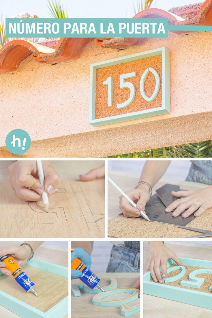 Número para la puerta con un marco de fotos | Marcos de fotos, Las ...