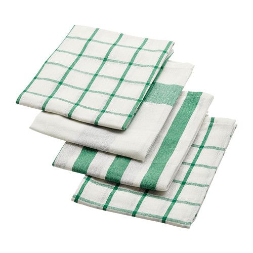 Elly Dish Towel White Green 20x26 Dish Towels Kitchen Towels Towel