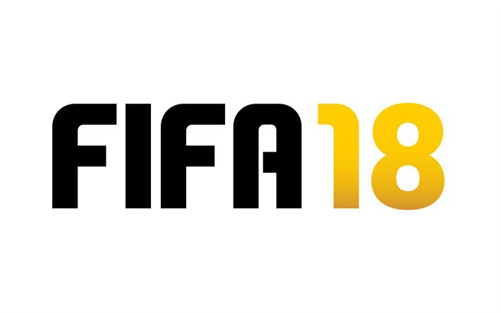 Download Wallpapers Fifa 18 2018 New Games Emblem Logo Football Simulator Besthqwallpapers Com Logos Fifa News Games