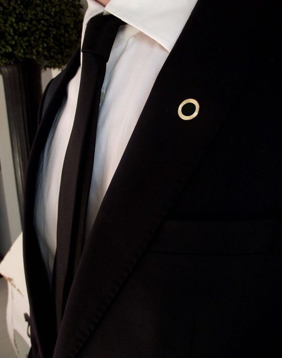 Well-known Groom's boutonniere, tie tack, groom's pin, gentleman brooch, men  AP61