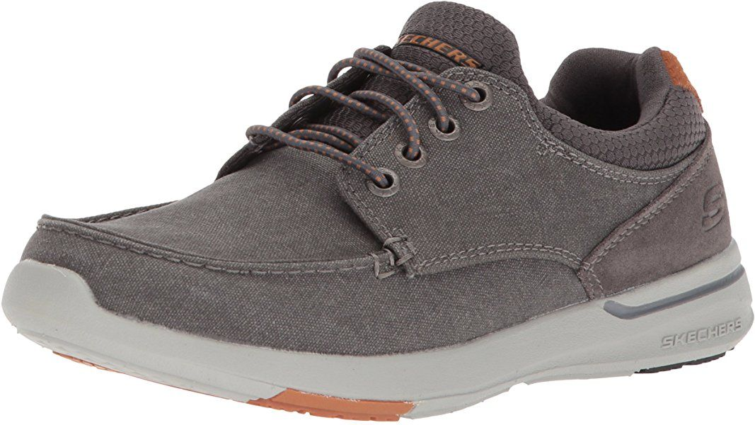 official photos great deals incredible prices Amazon.com | Skechers Men's Relaxed Fit-Elent-Mosen Boat Shoe ...