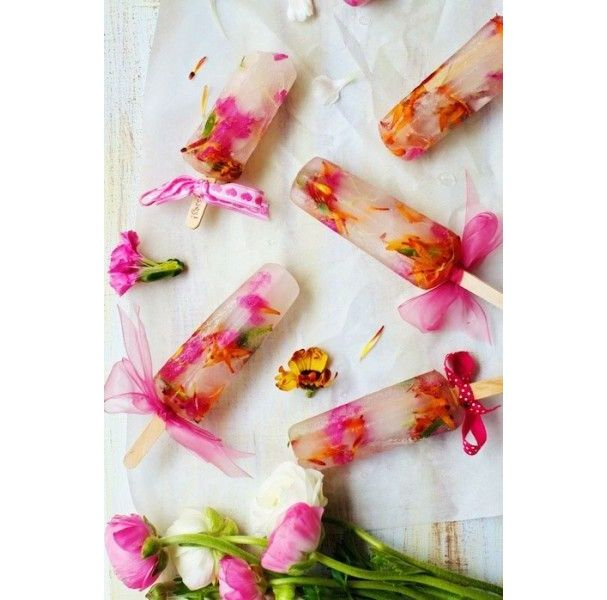 Des bâtonnets glacés aux pétales de fleurs glace pinterest recette