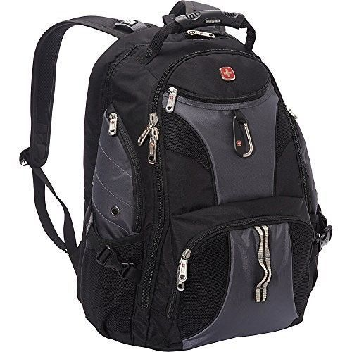 Mens Laptop Backpack Black Grey Student School Travel Hiking Camping  Scansmart  SwissGear 6c6d995d569b9