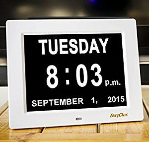 Amazon.com: DayClox – The Original Memory Loss Digital Calendar Day Clock with Extra Large Non-Abbreviated Day & Month. Perfect for Seniors: Home & Kitchen