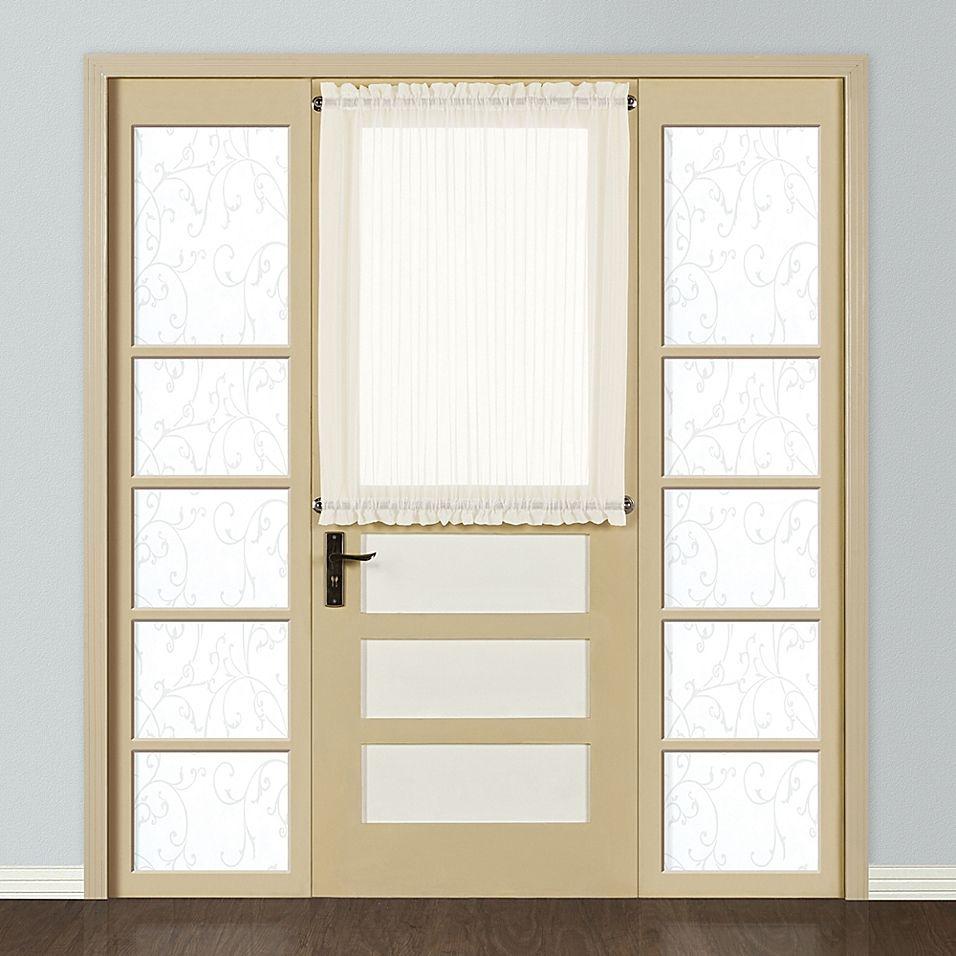 Monte Carlo Sheer Voile 40 Rod Pocket Door Curtain Panel In Egg