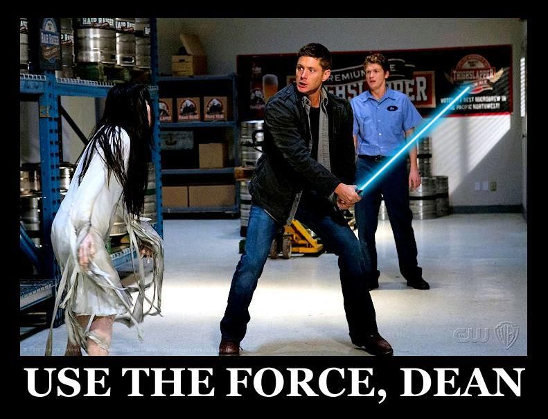 Use the force, Dean. ✪ #SPN