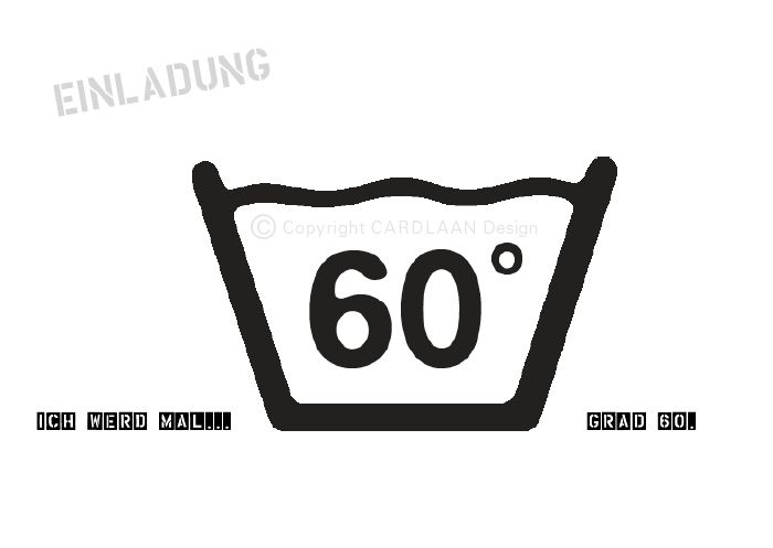 Einladung 60 Geburtstag 60Grad A6