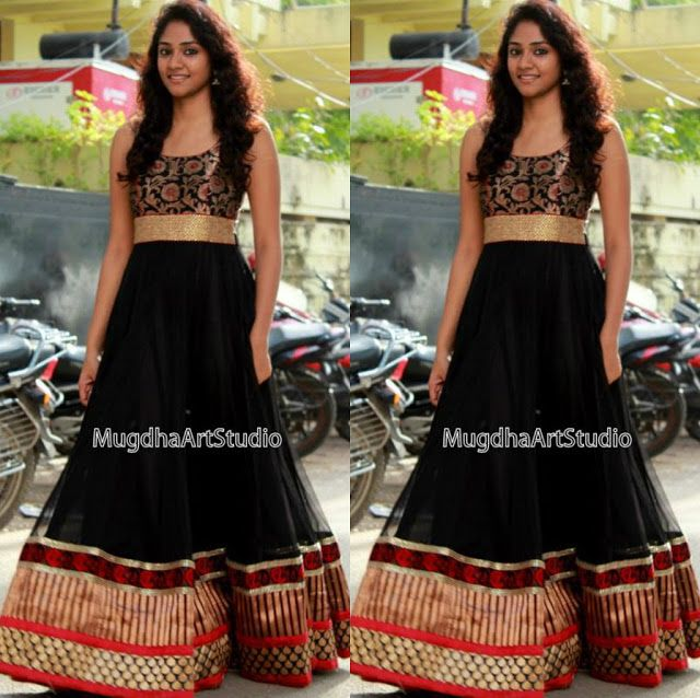 ce89363080 Black Floor Length Anarkali Celebrity Sarees, Designer Sarees, Bridal  Sarees, Latest Blouse Designs 2014 South India Fashion