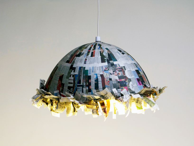recycled newspaper + sock furniture by jay watson