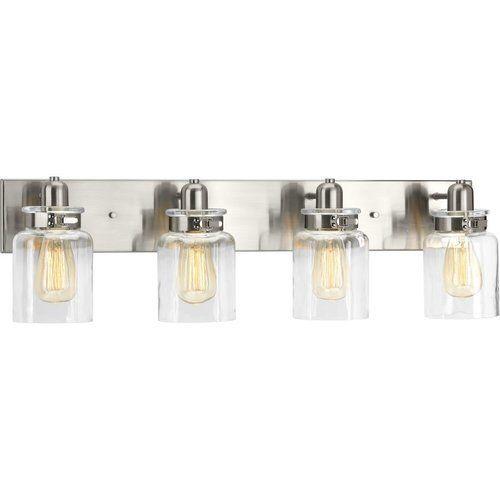 Photo of Progressive lighting Calhoun 4 Light Bath Light – Brushed Nickel P300048-009