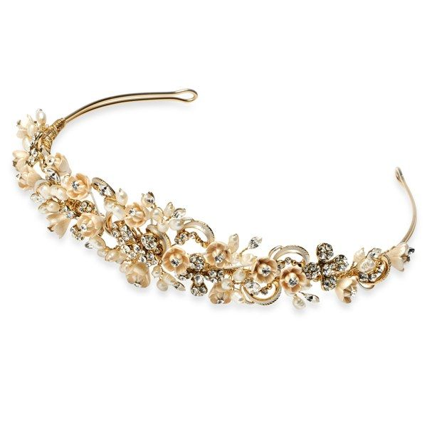 Gold And Champagne Wedding Tiara