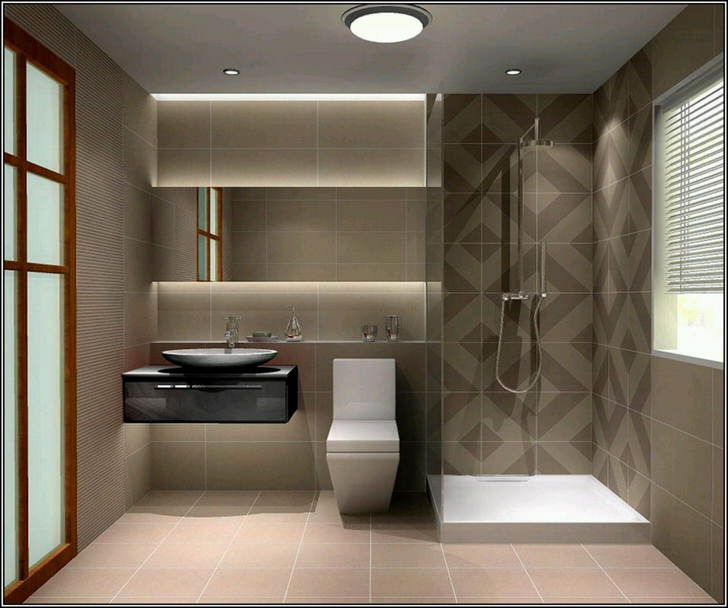 25 Attractive Modern Small Bathroom Designs For Awesome Home Dexorate Bathroom Layout Bathroom Design Small Modern Modern Small Bathrooms