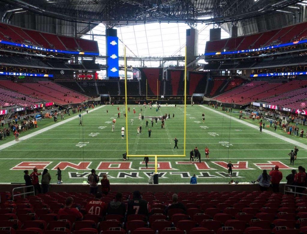 Mercedes Benz Stadium Section 119 Seat Views Seatgeek With Regard To Atlanta Falcons Stadium Seating Cha Atlanta Falcons Stadium Atlanta Falcons Seating Charts