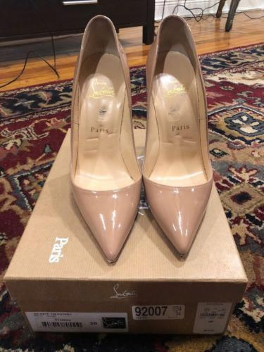 efe1b2df6a0e Lightly Used Christian Louboutin So Kate 120mm Patent leather Red Bottom  Nude 39